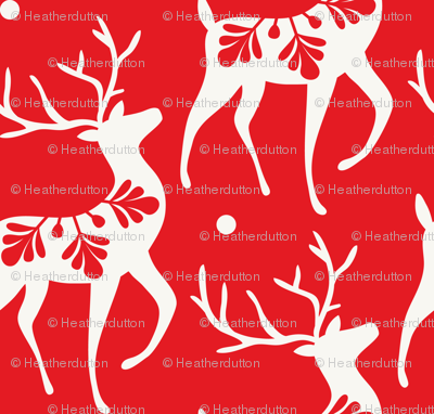 Dashing Through The Snow - Christmas Deer Red