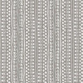Ditsy Tribal Stripe Pebble