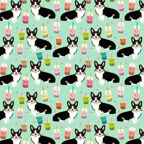 Corgi tri colored welsh corgis boba tea bubble teas