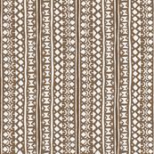 Ditsy Tribal Stripe Brown