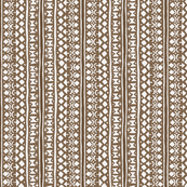 Ditsy Tribal Stripe Brown