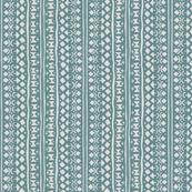 Ditsy Tribal Stripe Washed Aqua