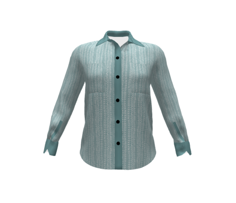 Ditsy Tribal Stripe Washed Aqua