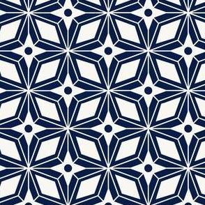 Starburst - Midcentury Modern Geometric Navy Blue