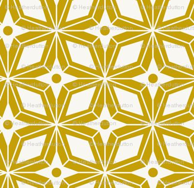 Starburst - Midcentury Modern Geometric Gold