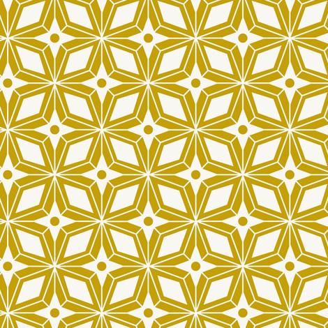Starburst - Midcentury Modern Geometric Gold fabric by heatherdutton on Spoonflower - custom fabric