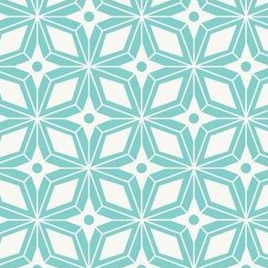 Starburst - Midcentury Modern Geometric Aqua