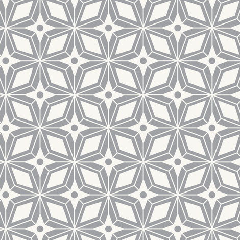 Starburst - Midcentury Modern Geometric Grey fabric by heatherdutton on Spoonflower - custom fabric
