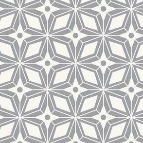 Starburst - Midcentury Modern Geometric Grey