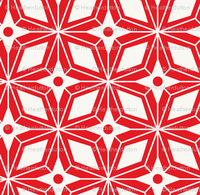 Starburst - Midcentury Modern Geometric Red