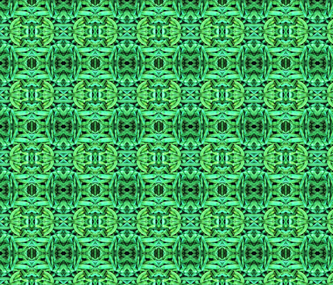 Green Bean Kaleidoscope fabric by saraecole on Spoonflower - custom fabric