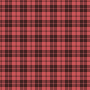 "Campbell red tartan, 3"" faded"