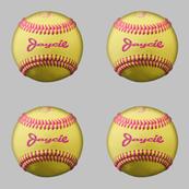 Custom order - personalized softballs - Jaycie