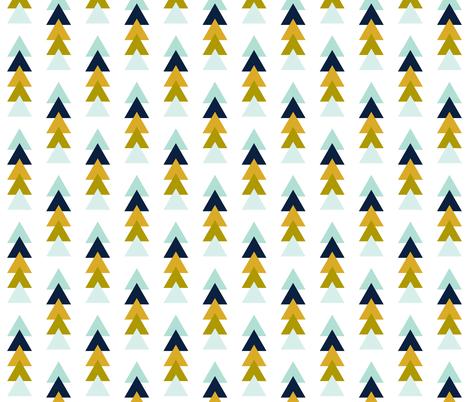 Aqua Adventurer Triangle Stack fabric by ivieclothco on Spoonflower - custom fabric
