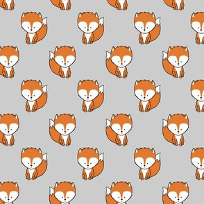 baby fox (small scale) || orange and grey
