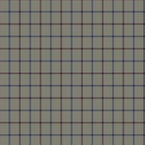 grey cap check - navy/maroon