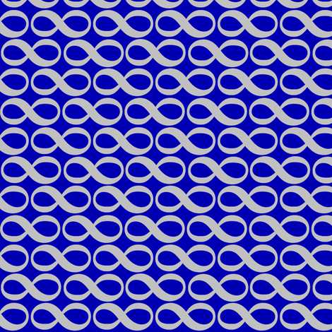 Infinity, silver on blue fabric by weavingmajor on Spoonflower - custom fabric