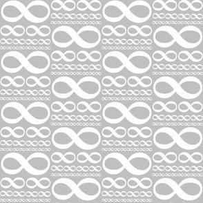 infinitiki - white on silver grey