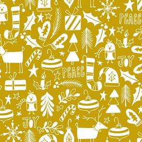 Peace & Joy Christmas - Yellow Gold