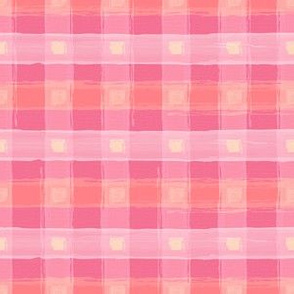 Watercolor Pink Plaid S
