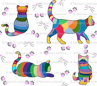 Colorful Cross Stitch Cats