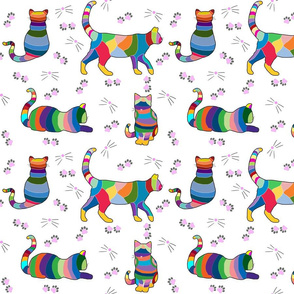 Colorful Cross Stitch Cats