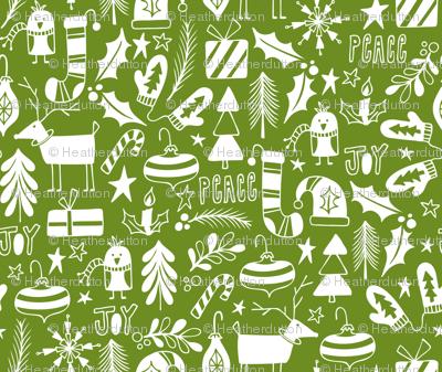 Peace & Joy Christmas - Green