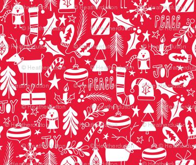 Peace & Joy Christmas - Red