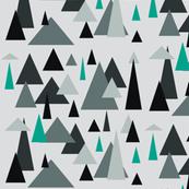 Grey triangle landscape-teal