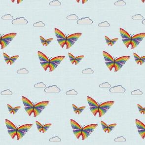 Butterfly Fly Away CrossStich