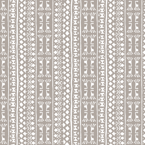 Tribal Warrior Stripe Cement fabric by shi_designs on Spoonflower - custom fabric