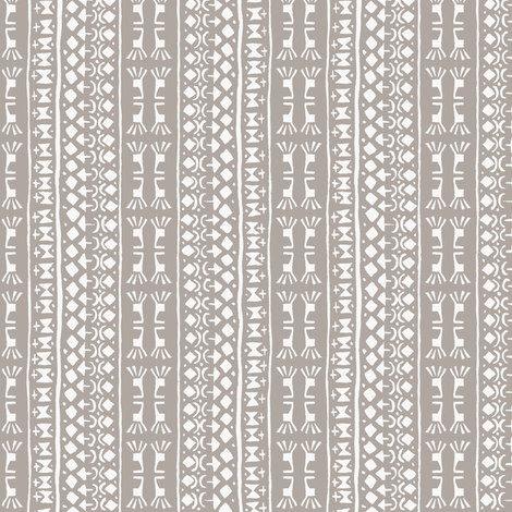 Tribal Warrior Stripe Cement fabric by shi_designs on Spoonflower - custom fabric