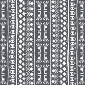 Tribal Warrior Stripe Charcoal