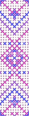 Cross Stitched in Pink