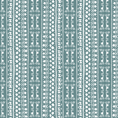 Tribal Warrior Stripe Washed Teal