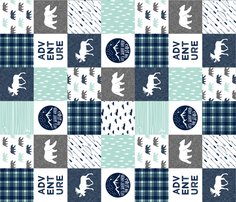happy camper wholecloth (90) || v6 fabric by littlearrowdesign on Spoonflower - custom fabric