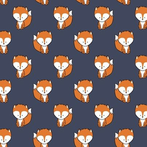 baby fox (small scale) || orange on dark blue