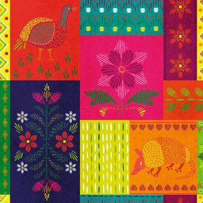 Mexican Fabric Wallpaper Gift Wrap Spoonflower