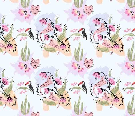 Jungle animals fabric by supayana on Spoonflower - custom fabric
