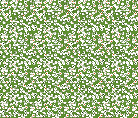 Flour sack: white poppies on green fabric by sixsleekswans on Spoonflower - custom fabric