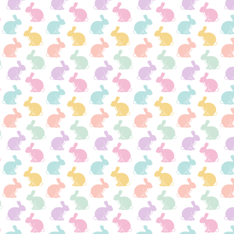 easter bunnies (small scale) || pastel fabric by littlearrowdesign on Spoonflower - custom fabric