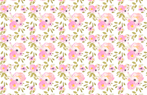 Indy Bloom Design Floral Greens fabric by indybloomdesign on Spoonflower - custom fabric