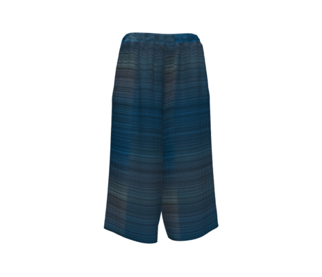 Warp weft cobalt blue ombre plaid