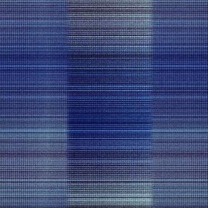 Warp weft cobalt blue ombre