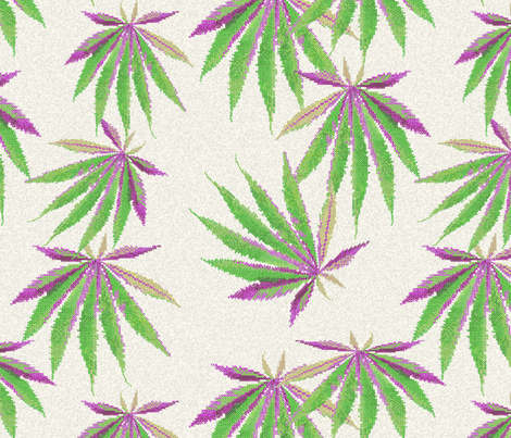 Cross-Stitch Cannabis fabric by camomoto on Spoonflower - custom fabric