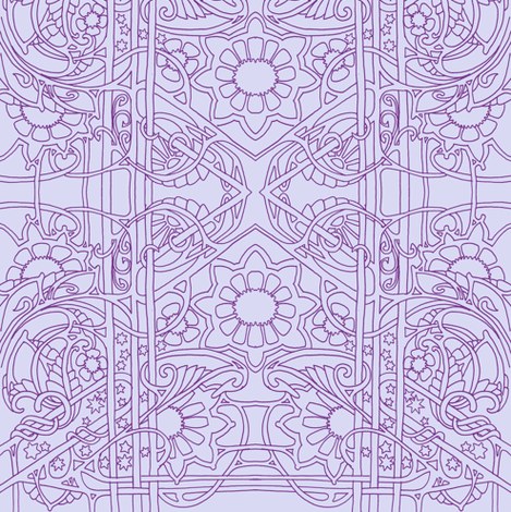 Nouveau Lavender Worlds fabric by edsel2084 on Spoonflower - custom fabric