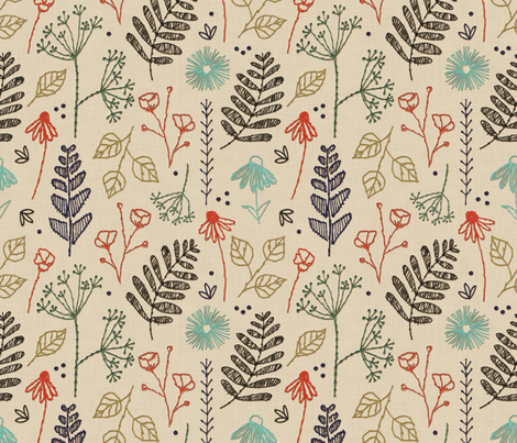 Botanical Sampler fabric by brittany_vogt on Spoonflower - custom fabric