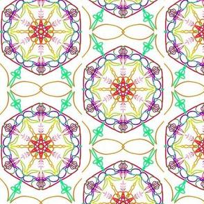 Festive Heavenly Hexagons
