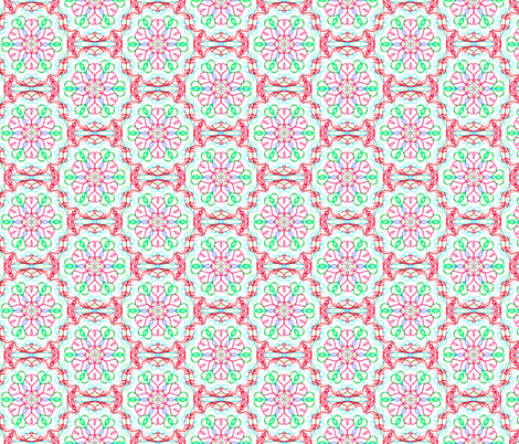 Blooming Tangled Hearts on Snowy White - Small Scale fabric by rhondadesigns on Spoonflower - custom fabric