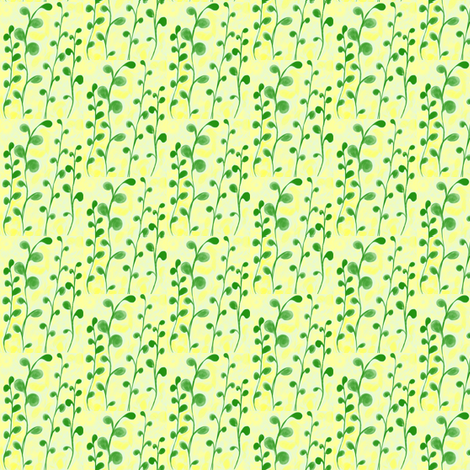 Loose Greenery in Dappled Sunlight - Small Scale fabric by rhondadesigns on Spoonflower - custom fabric